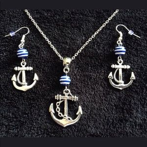 Jewelry - Just IN!! Silver Nautical Anchor Jewelry Set